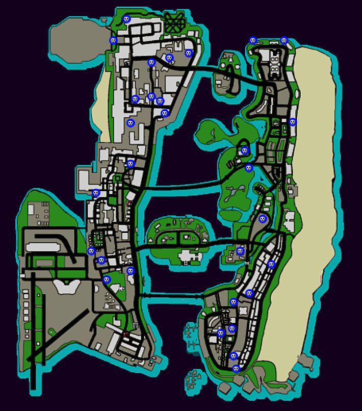 Map GTA VC | CommentCaMarche